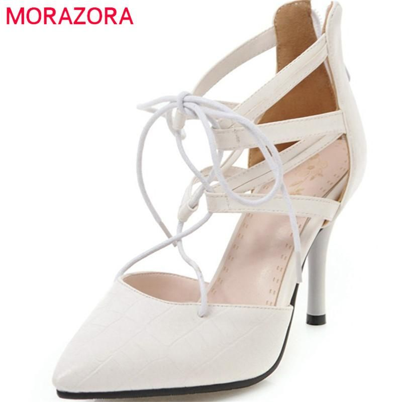 d38a200a559 MORAZORA 2018 new arrive women pumps top quality fashion pointed toe  comfortable shallow size 33-43 high heels shoes