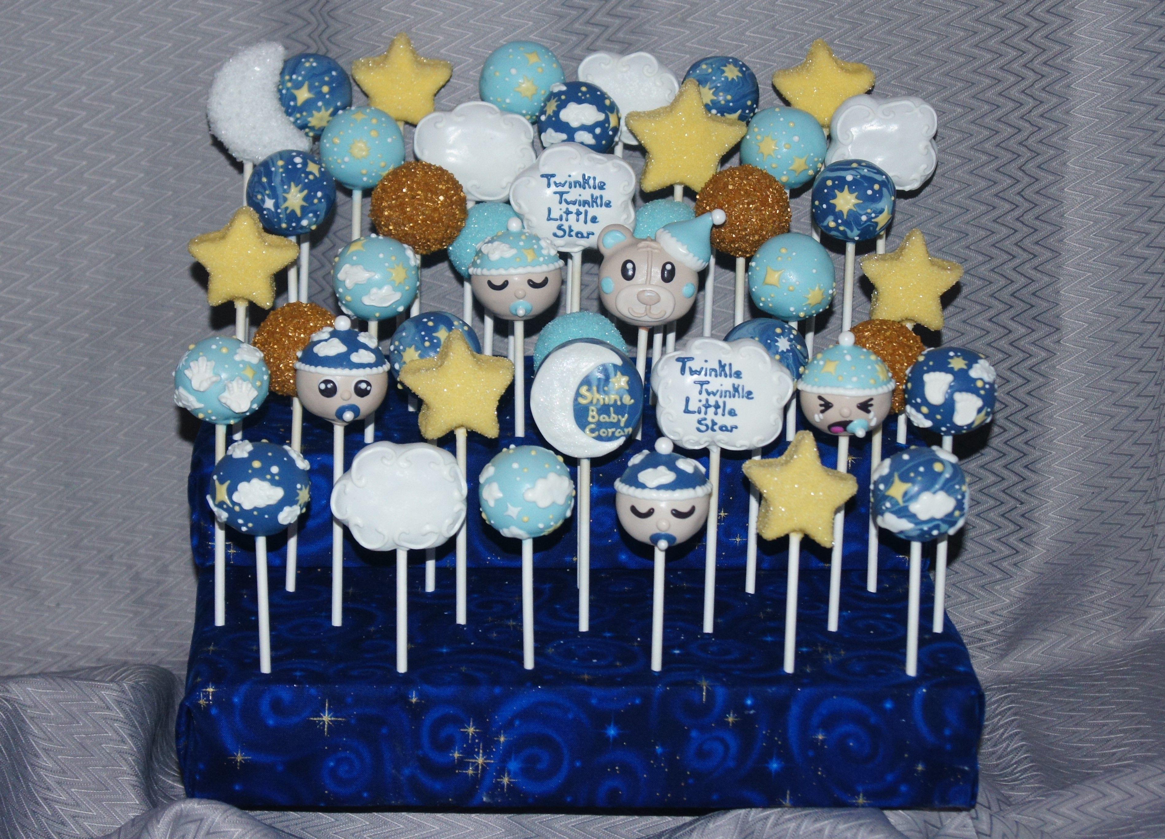 Twinkle Twinkle Little Star Baby Shower Cake Pops Bakery