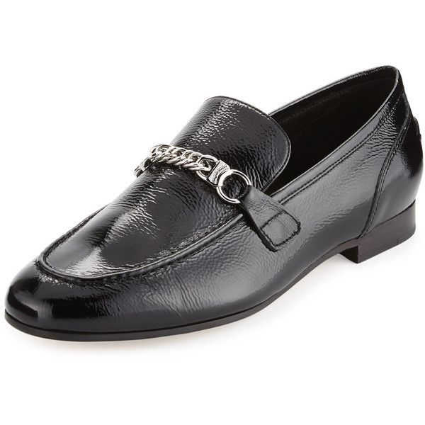 8c6c7430a6 Rag & Bone Cooper Patent Chain Loafer ($276) ❤ liked on Polyvore featuring  shoes, loafers, black patent, shoes loafers, black patent loafers, loafer  shoes, ...