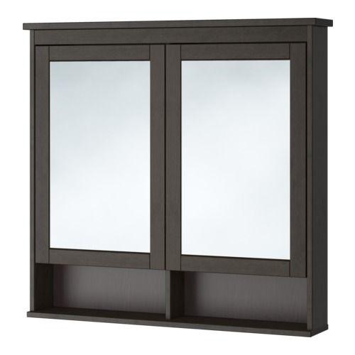 Ikea Hemnes Armoire à Pharmacie 2 Portes Miroir Blanc