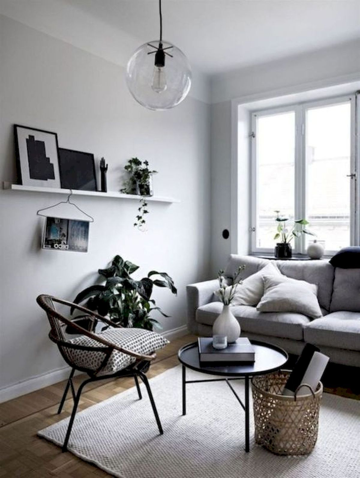 30 Awesome Small Apartment Design And Decor Ideas With Farmhouse Styles Modern Minimalist Living Room Minimalist Living Room Decor Small Living Room Decor