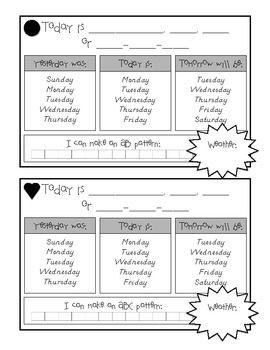 Daily Calendar Math  K Math    Daily Calendar Math