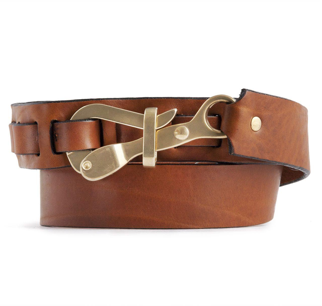 Pelican Hook Leather Belt