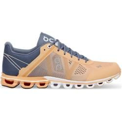 Photo of On Women's Cloudflow running shoes, size 40 in Almond / Gray, size 40 in Almond / Gray On