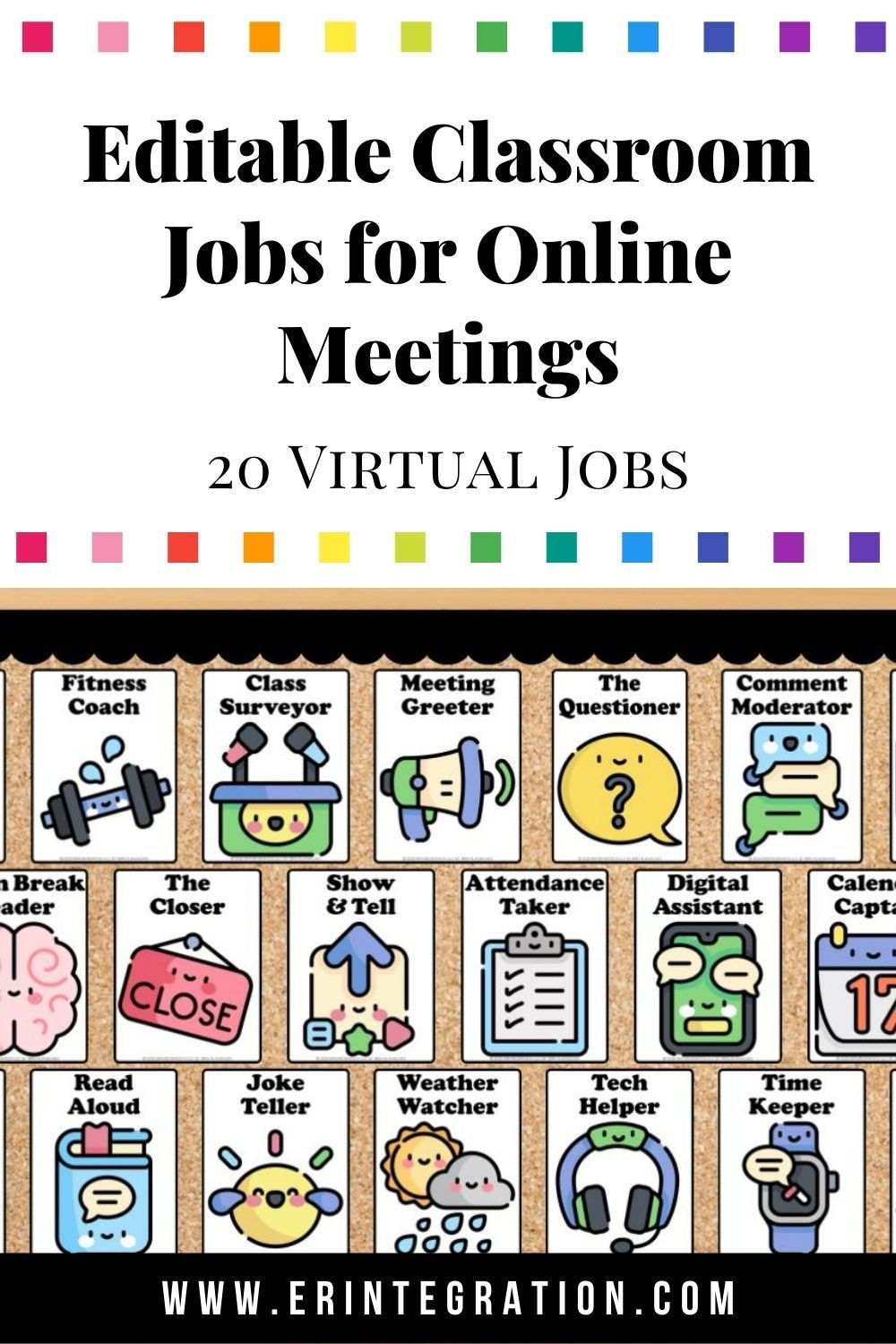 Virtual Jobs For Online Classrooms Digital Interactive Bulletin Board 20 Jobs In 2020 Virtual Jobs Online Classroom Interactive Bulletin Board