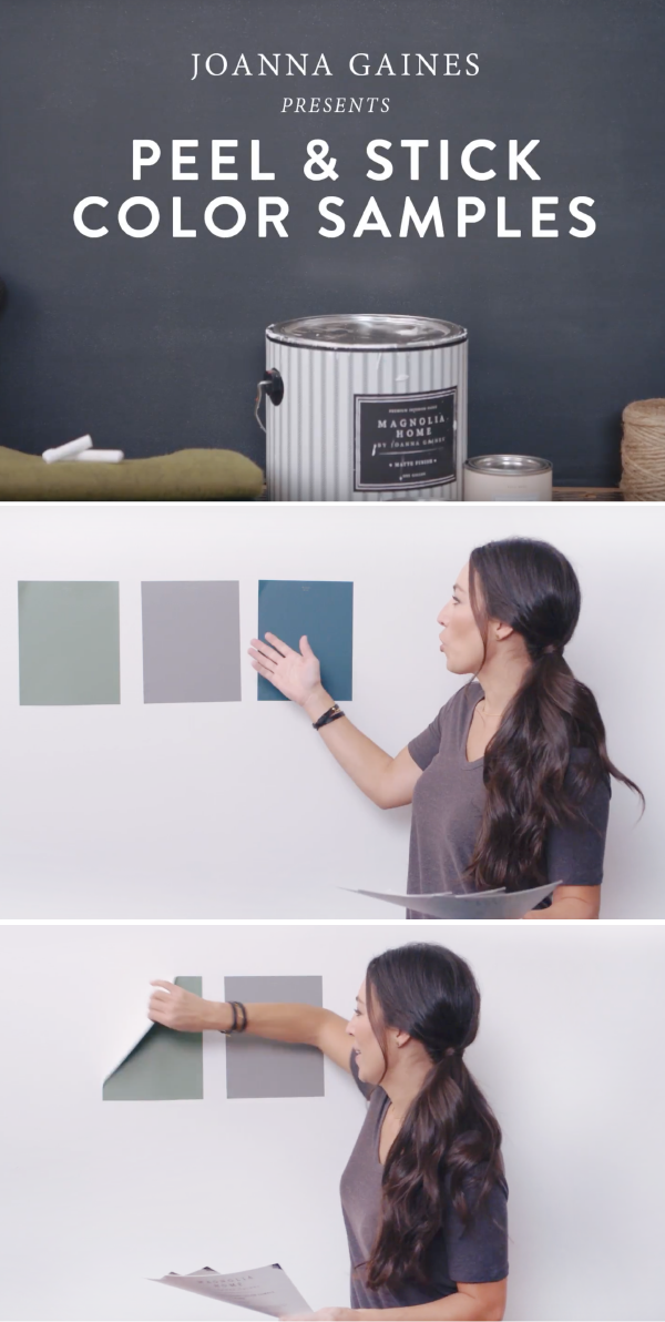 Picking Out A New Interior Paint Color Is Hard. Thatu0027s Why Magnolia Home By  Joanna Gaines™ Offers Peel And Stick Color Samples. Test Paint Samples In  ...