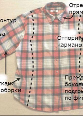 Переделка мужской рубашки в женскую (52 фото): мастер ...