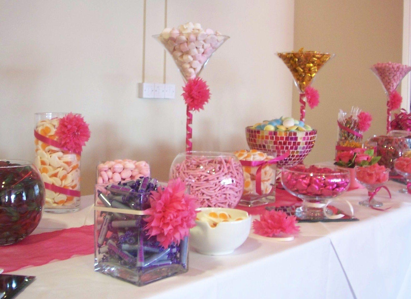 Amazing Fuchsia Pink Candy Bar At The Millennium Stadium