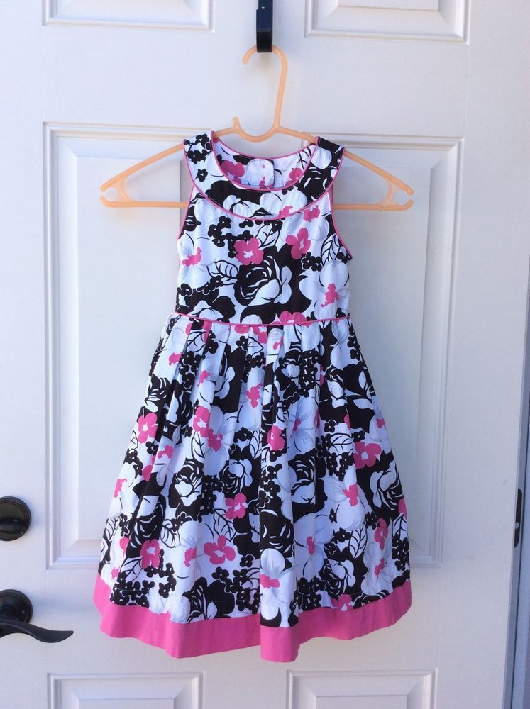 Lilly Wicket Girls Size 6 Floral Spring Time Dress #LillyWicket
