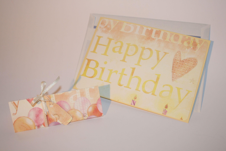 """""""Happy birthday"""": Grußkarte und kleine Aufmerksamkeit"""
