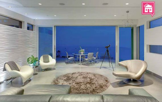 Polished Concrete Micro Topping Ardex Sd M The Wave House White Rock B C Interior