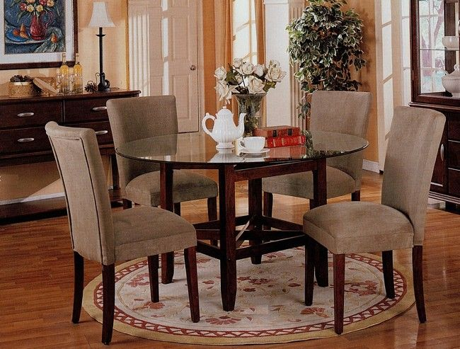 glass dining table round glass dining
