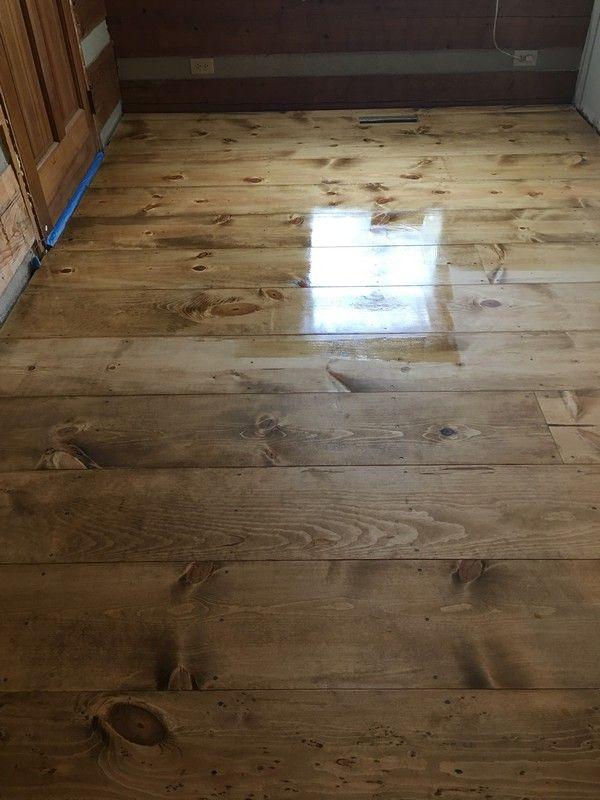 Diy Wide Plank Pine Floors Part 2 Finishing Wood Floors Wide Plank Pine Floors Rustic Wood Floors