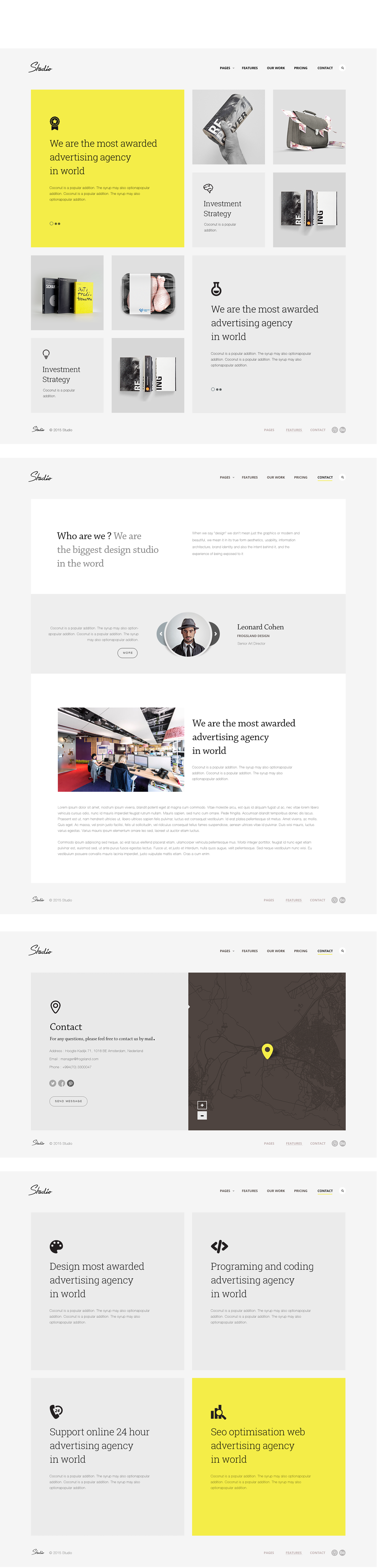 Studio Template [HTML5] on Behance | Web Design | Pinterest ...