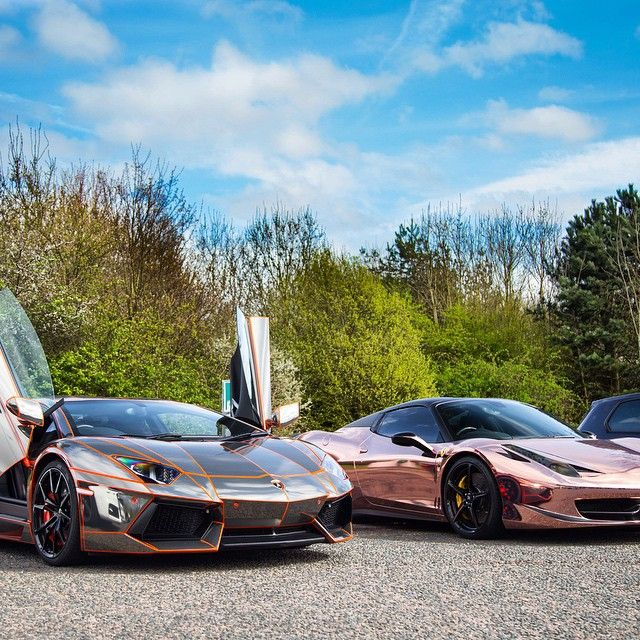 lamborghini aventador chrome wrap with tron lines ferrari 458 italia rose gold wrap fearsome. Black Bedroom Furniture Sets. Home Design Ideas