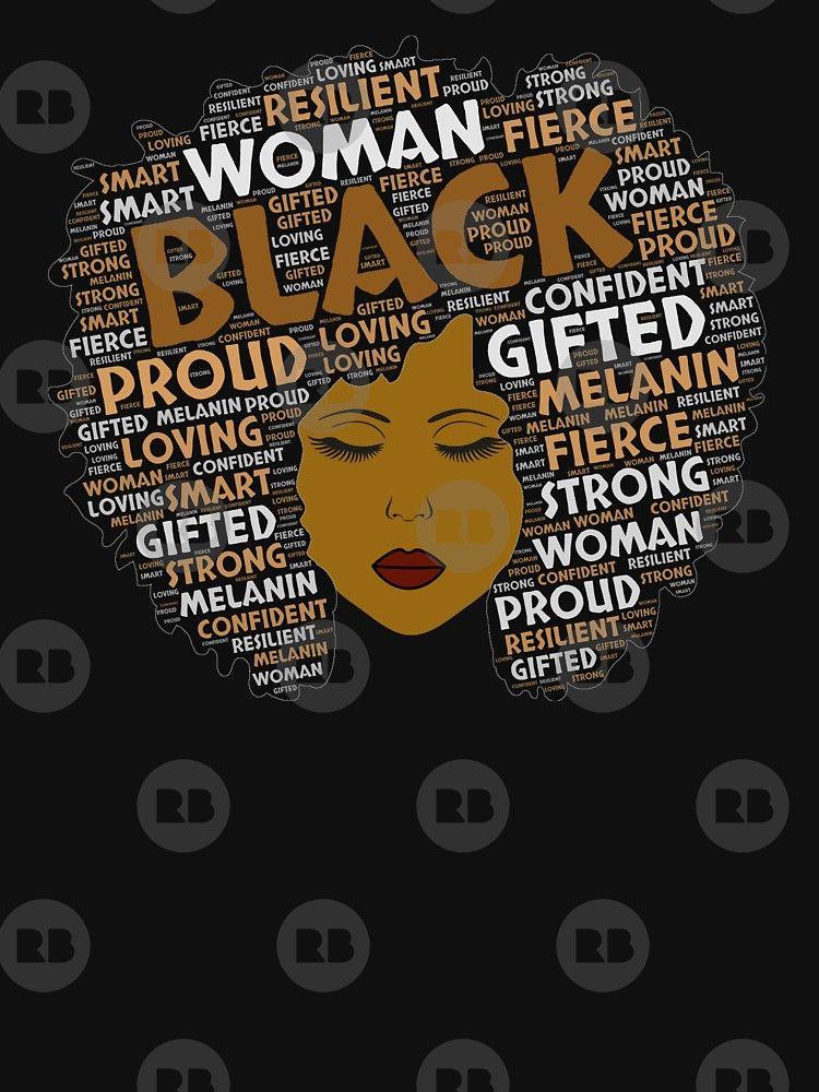 Black Girl Woman Words In Afro Art Essential T Shirt By Blackartmatters In 2021 Afro Art Black Lives Matter Art Black Art Pictures