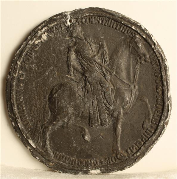 Medaille auf Kaiser Konstantin unbekannt|Bildhauer Niederländisch, um 1390(?) Skulpturensammlung Material and Technique Bleiguss Measurement Dm: 9,3 cm, T: 0,8 cm