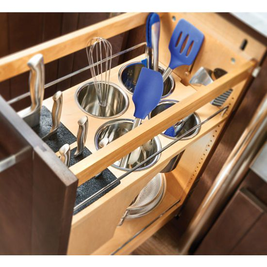 Kitchen Cabinet Accessories Pull Out: Rev-A-Shelf Pull-out Knife And Utensil Base Organizer With