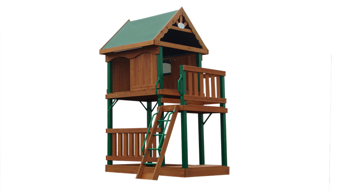 Modular Playset Starting With Covered Raised Deck Add Monkey Bars - Build monkey bars ladder