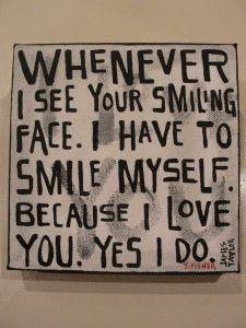 Your Smiling Face Lyrics