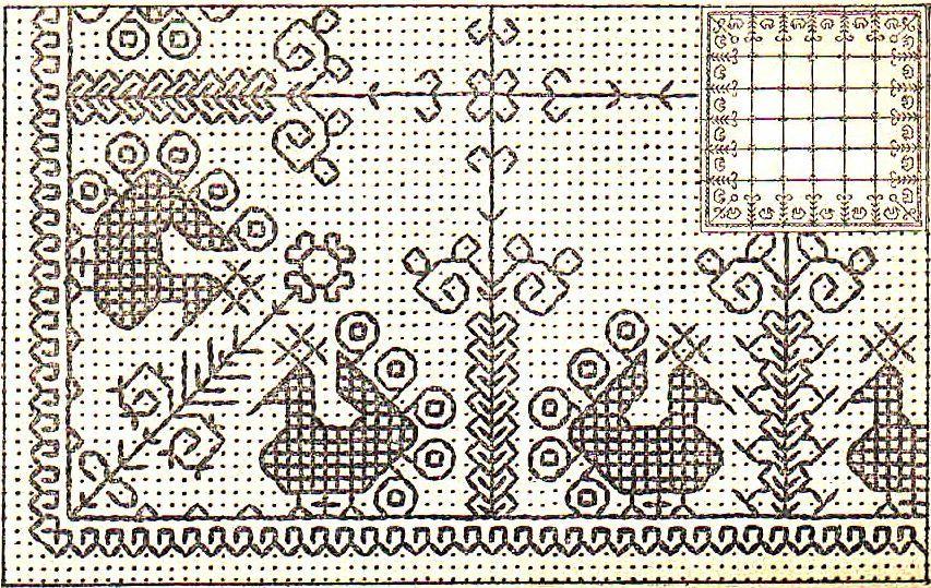 Вышивка роспись схема