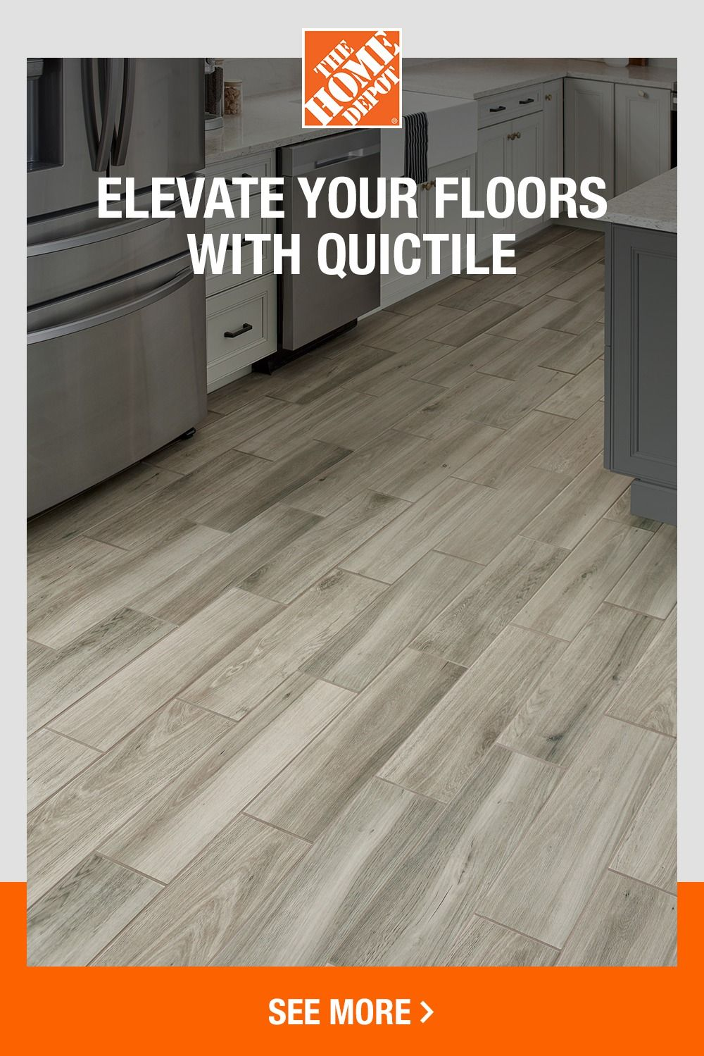 Get New Floors In Three Steps With Quictile At The Home Depot In 2020 Flooring Farm House Living Room Home