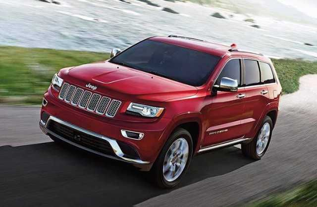 Red Color Jeep Grand Cherokee Limited 2016