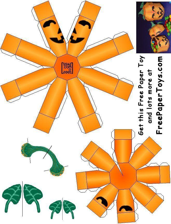 Free Paper Model Halloween Pumpkin Halloween Halloween