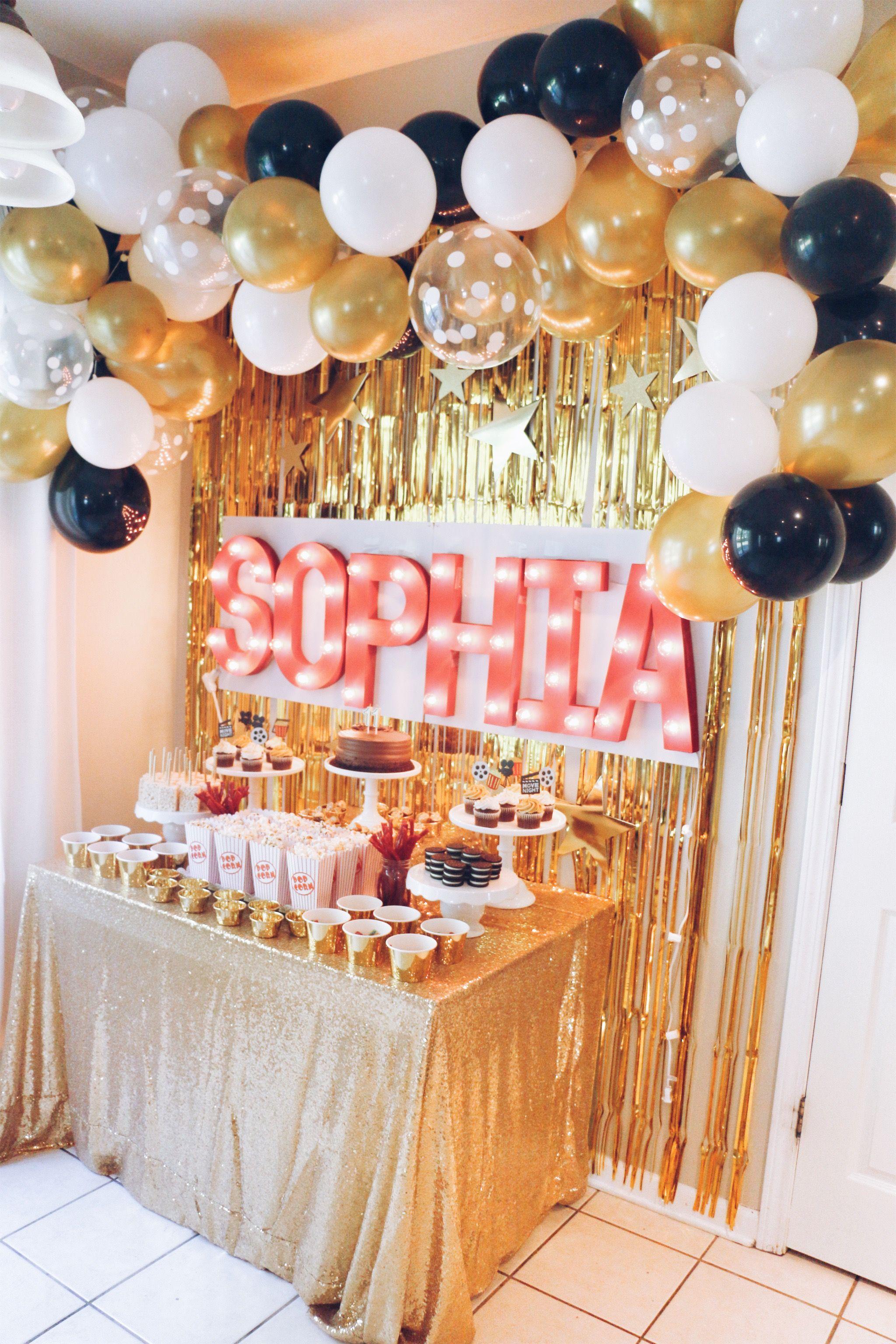 Sophia S 11th Birthday Party Hollywood Movie Theme 18th Birthday Party Themes Hollywood Birthday Party Decorations 18th Birthday Party