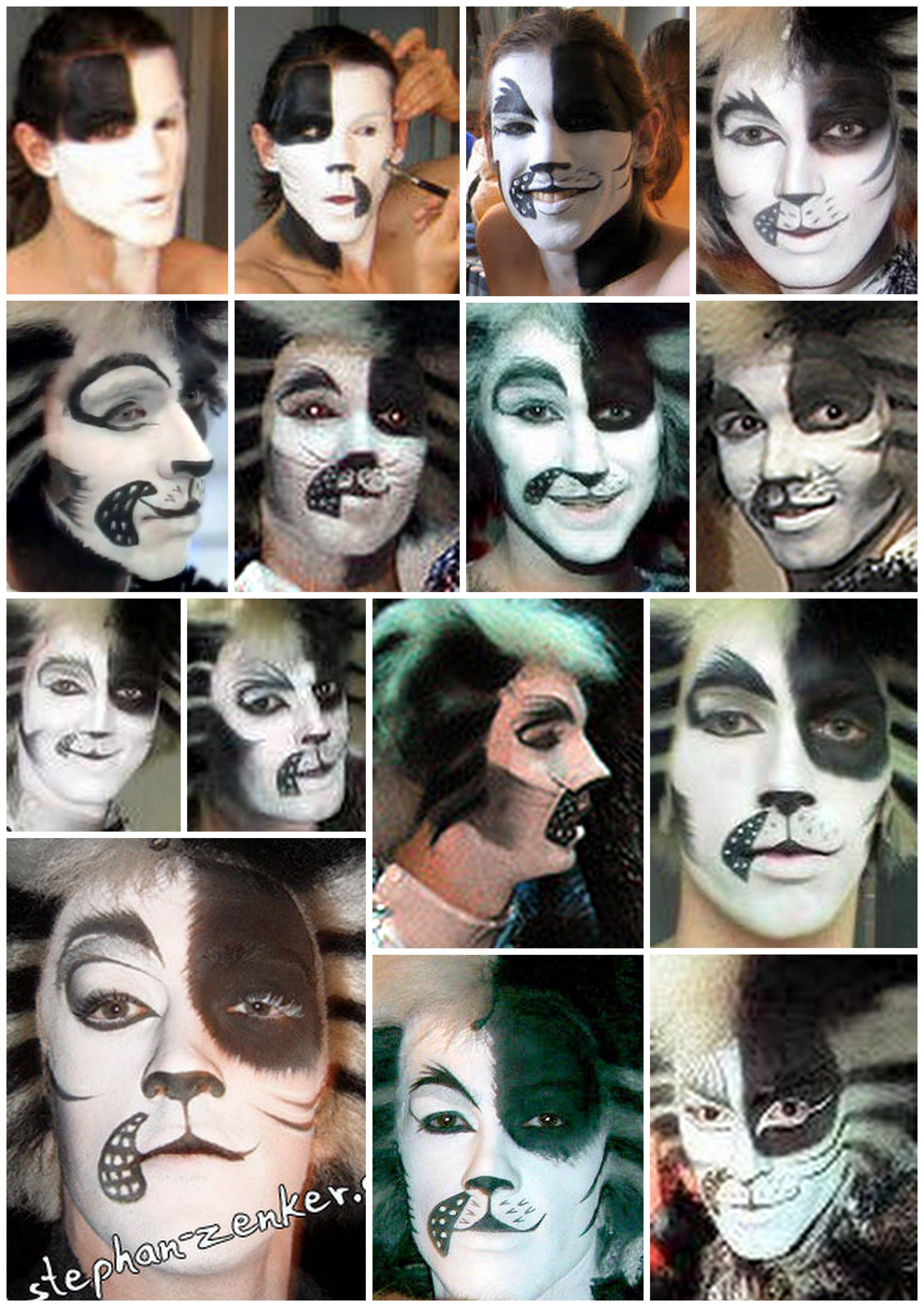 Alonzo makeup Black and white version Cat makeup