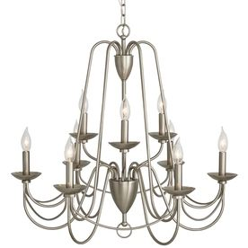 Allen roth wintonburg 2795 in 9 light brushed nickel williamsburg allen roth wintonburg 2795 in 9 light brushed nickel williamsburg candle chandelier b10100 mozeypictures Image collections