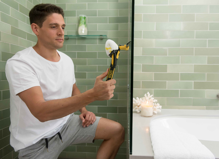 Use The ENJO Indoor Window Cleaner To Keep Your Bathroom Shower - Bathroom cleaner person
