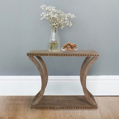 Super Carolina Chair Table Haider Riveted Console Natural Oak Machost Co Dining Chair Design Ideas Machostcouk