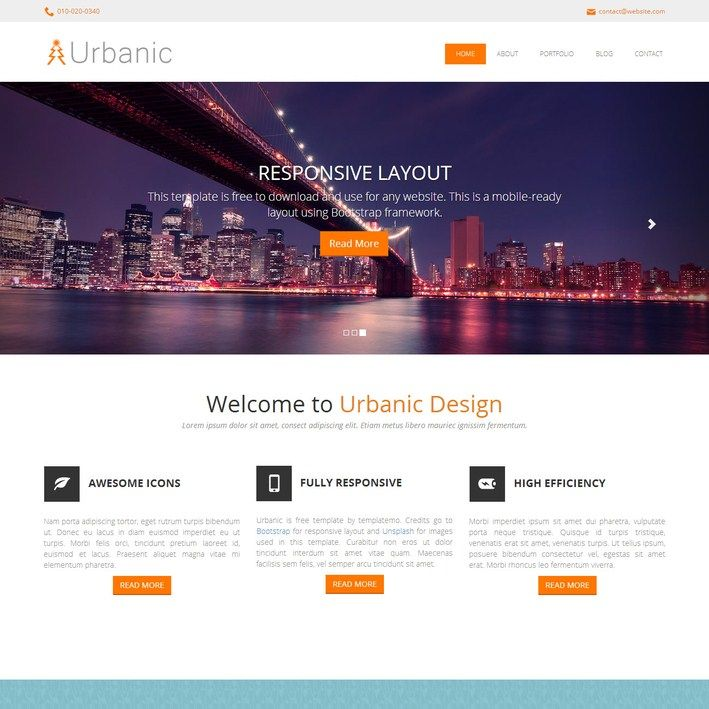 395 Urbanic Responsive Template | web_layout | Pinterest ...