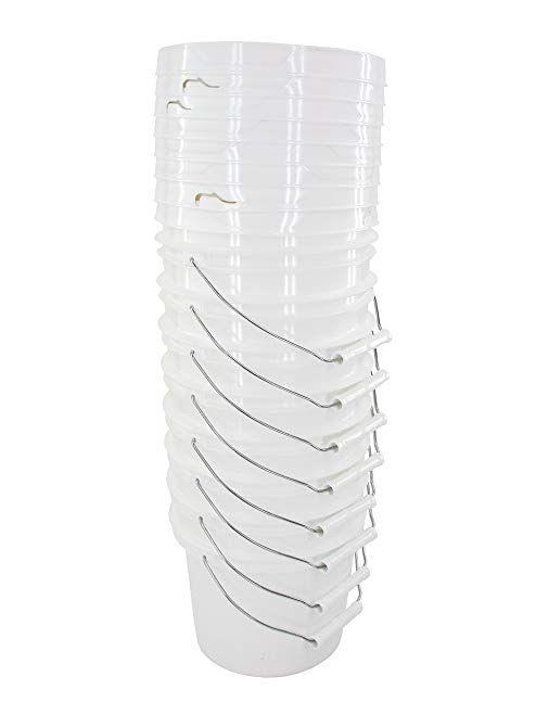 Leaktite 1 Gal Plastic White Pail 24 Pack 210646 The Home Depot Plastic Pail Pail Pail Bucket