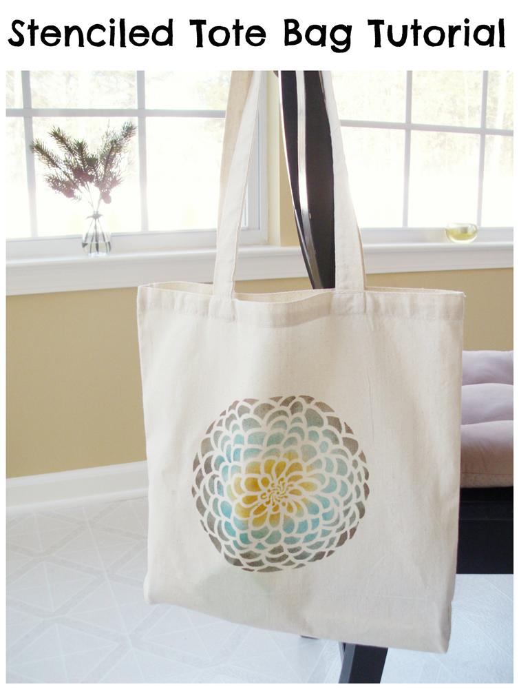 Stenciled Tote Bag Tutorial - Deja Vue Designs