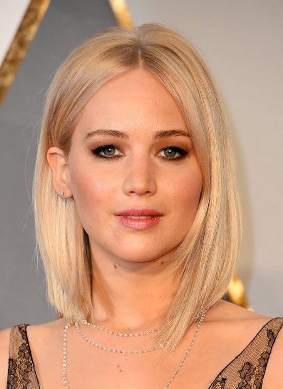 2017 Trendige Frisuren Jennifer Lawrence Trend Haare Frisuren Lob Frisur Jennifer Lawrence Frisur