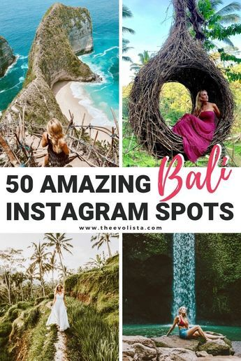 A Bali Travel Guide with everything you need to find the best Instagram spots in Ubud, Canggu, Uluwatu, Nusa Penida and more. Best Bali Photo Spots | Instagrammable Bali | Bali Photography | Bali Travel Tips | Bali Rice Terrace | Bali Hotels | Bali Beaches | Bali Swing | Bali Temples | Bali Outfit Ideas #Bali #Indonesia #Traveltips #Instagram