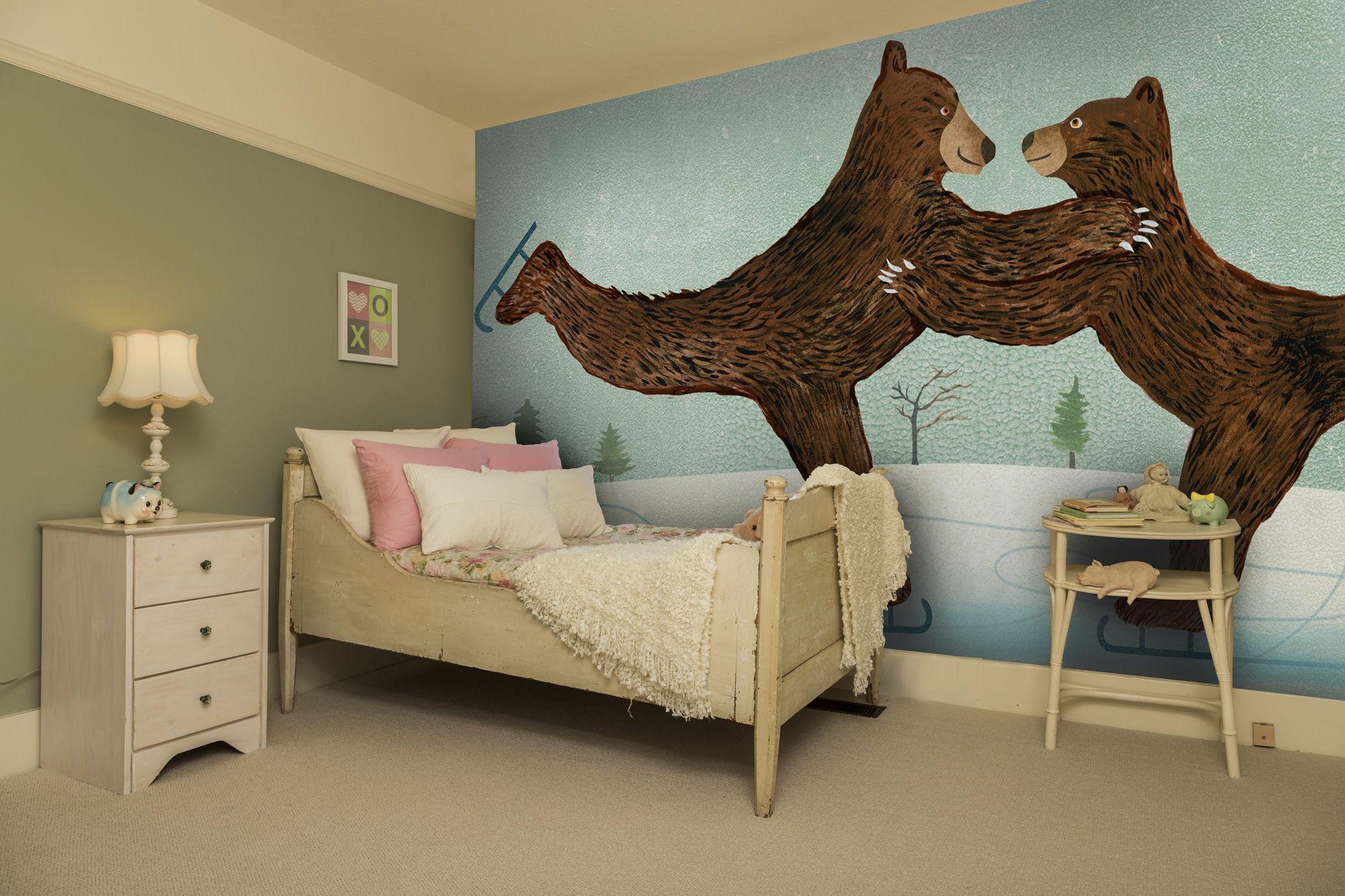 Stunning Winter wallpaper wall mural by artist Ellen Weinstein Get