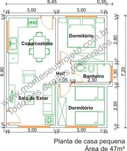 Tres Plantas De Casas Pequenas Com 2 Quartos Plantas De Casas