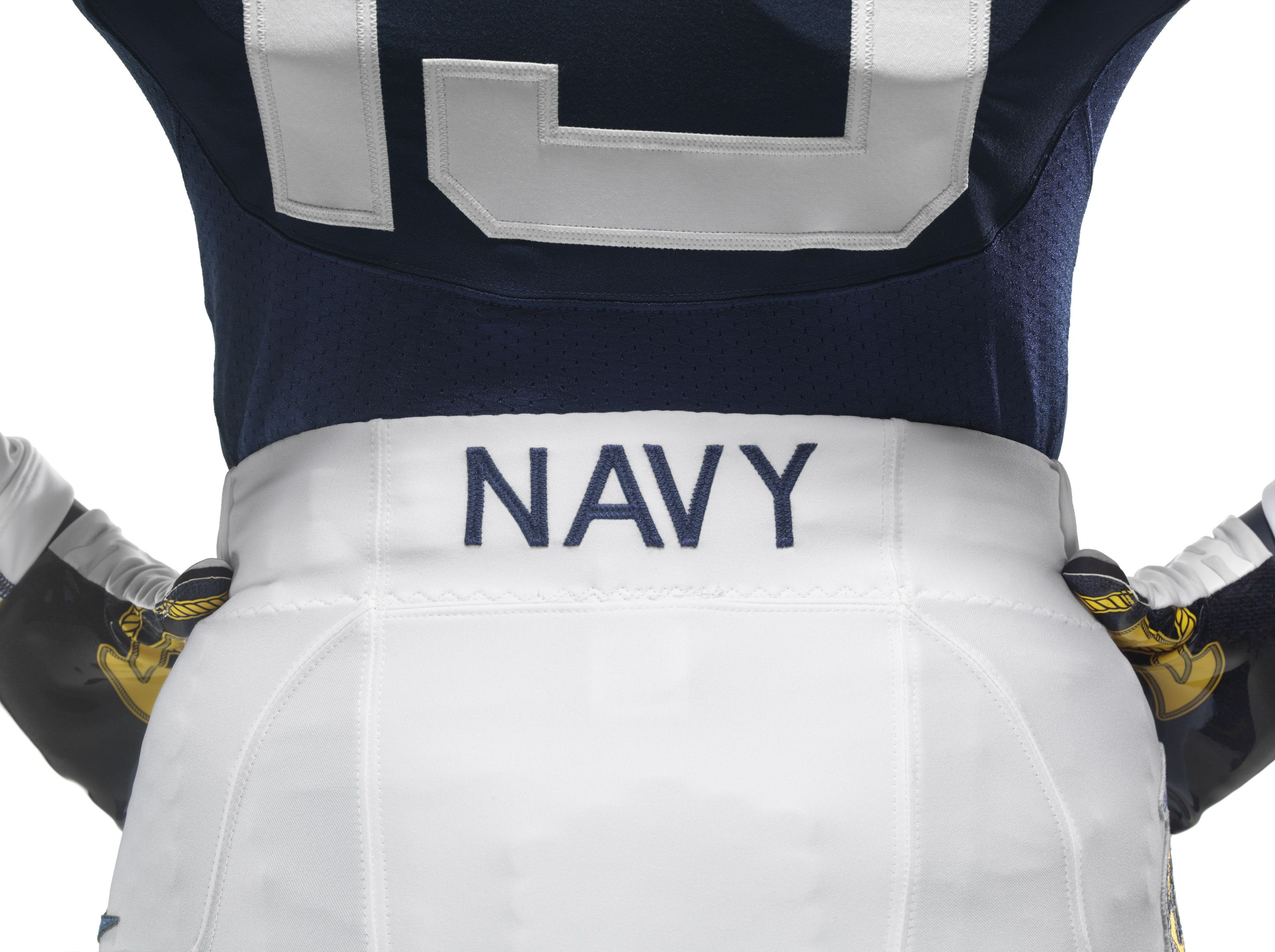 The back of Navy's uniform for the ArmyNavy Game