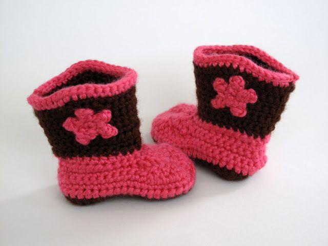 Crochet Baby Cowboy Boot Booties Wonderful Crochet Baby Boots
