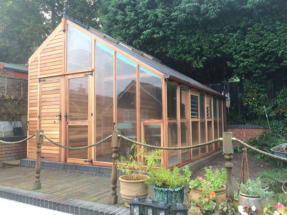 Combo Shed And Greenhouse By Woodpecker Joinery 400 x 300