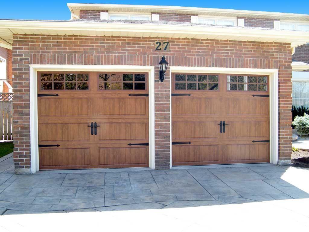 Clopay Gallery Dark Oak With Long Rectangular Grilles Garage Door Styles Garage Door Design Garage Doors