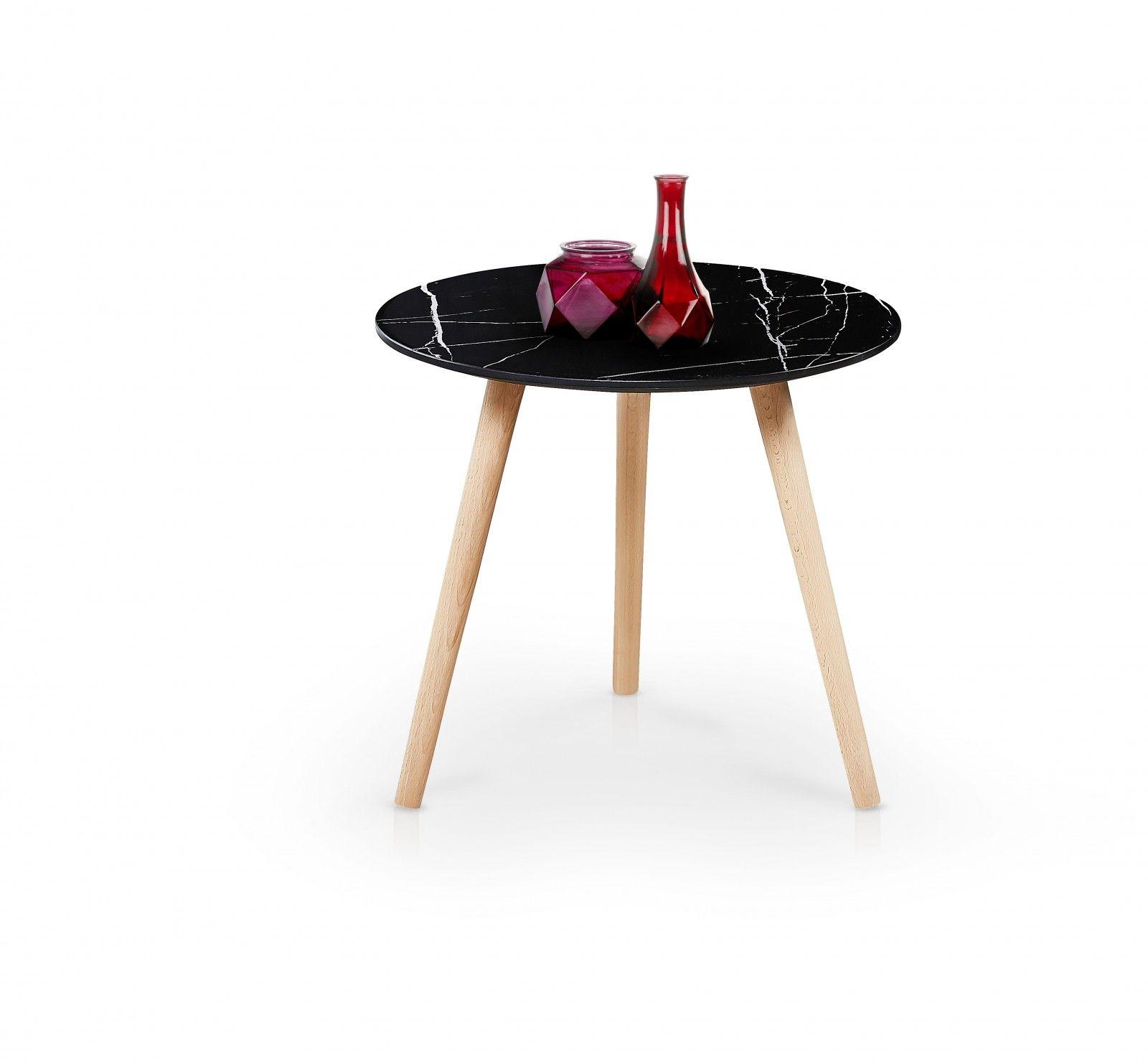 Masa De Cafea Aida Black O50xh44 Cm Side Table Table Oak Side Table