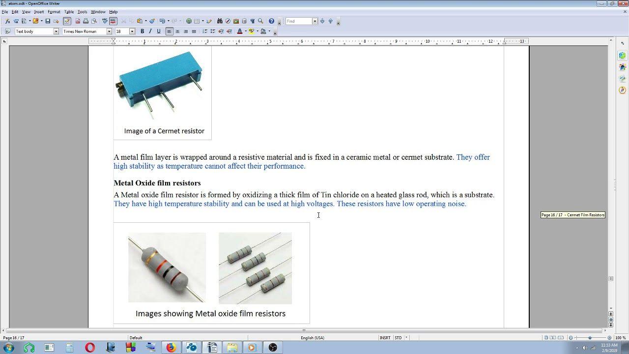 Basic Electronics On The Go 14 Fixed Resistors Thick Film And Thin Resistors Basic Electronics