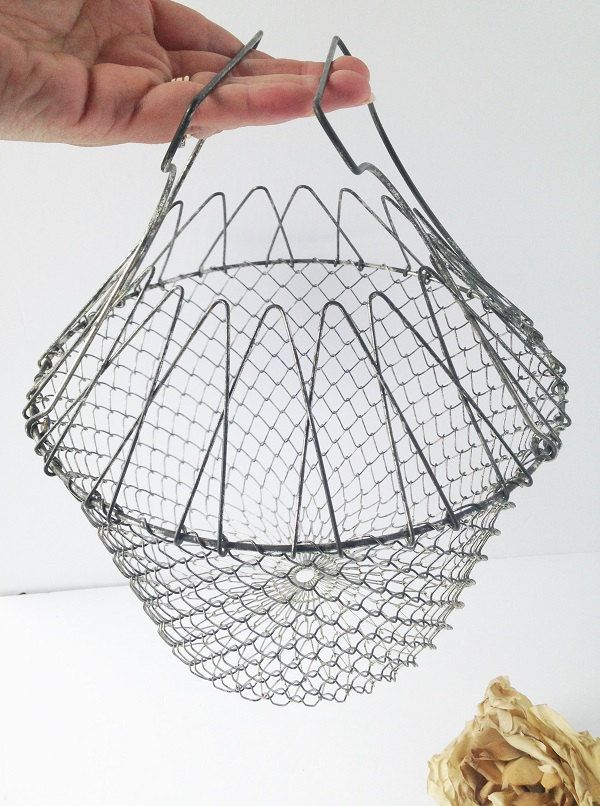 basket wire Vintage collapsible