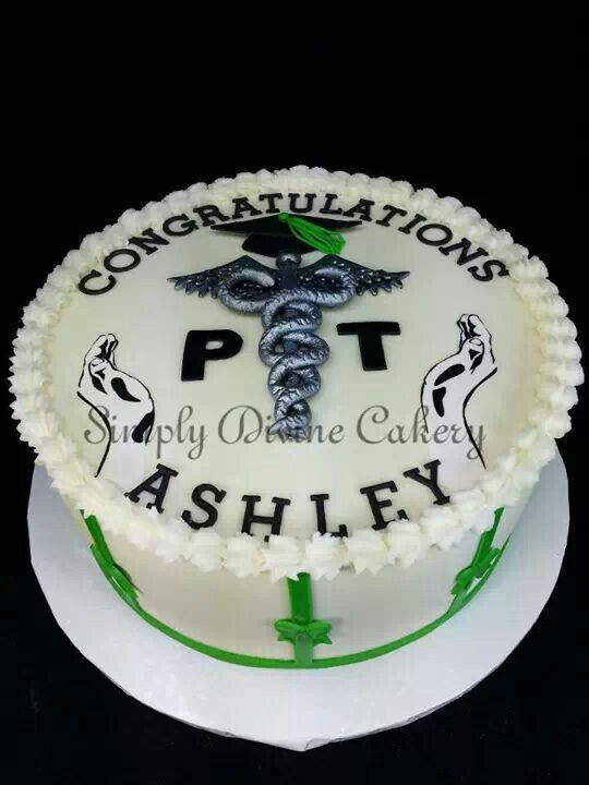 Buttercream Covered Physical Therapy College Graduation