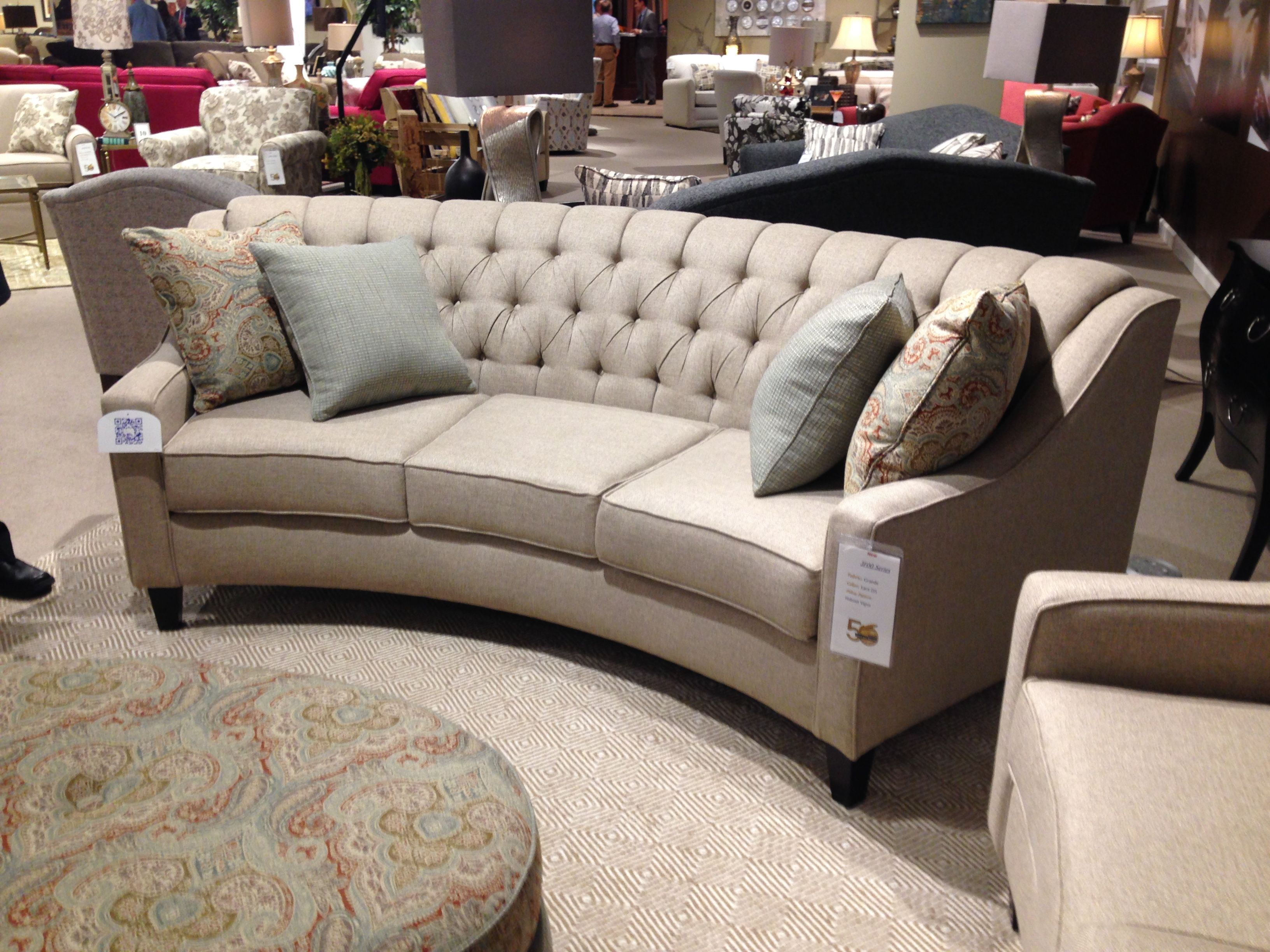New curved sofa from England Furniture es in 3 sizes