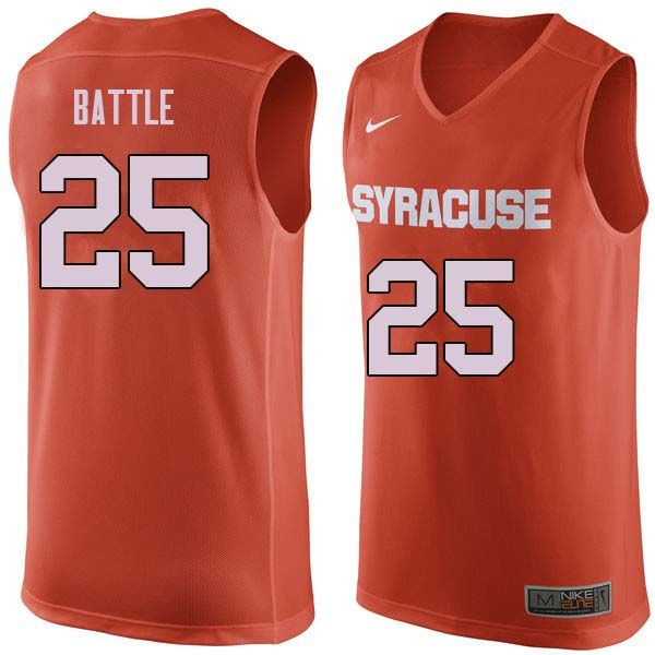 9b5ba807e Men  25 Tyus Battle Syracuse Orange College Basketball Jerseys Sale-Orange